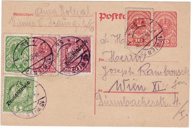 """Postkartenserie """"Neuer Wappenadler"""", Inschrift """"Deutschösterreich"""" Img20"""