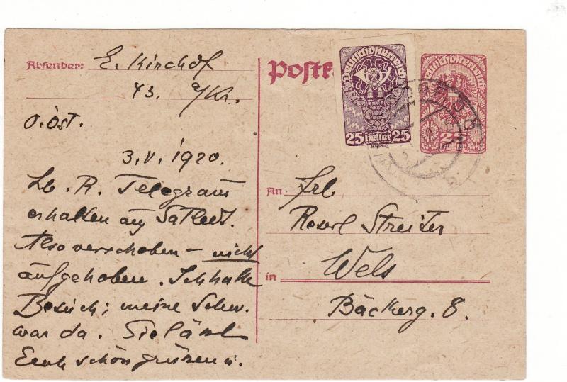 """Postkartenserie """"Neuer Wappenadler"""", Inschrift """"Deutschösterreich"""" Img22"""