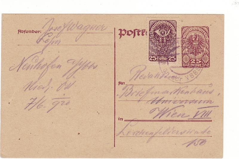 """Postkartenserie """"Neuer Wappenadler"""", Inschrift """"Deutschösterreich"""" Img23"""