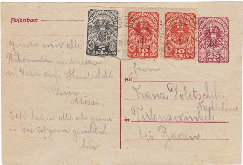 """Postkartenserie """"Neuer Wappenadler"""", Inschrift """"Deutschösterreich"""" Img26"""