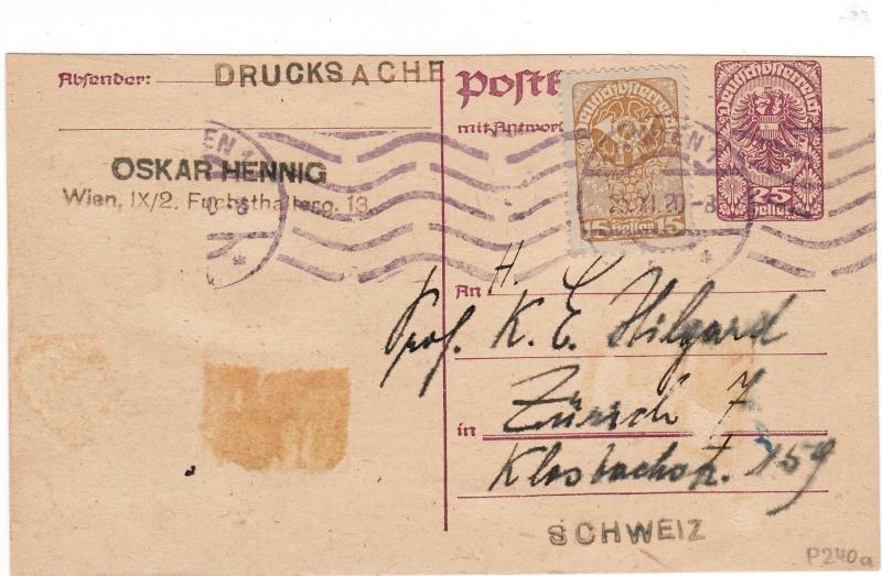 """Postkartenserie """"Neuer Wappenadler"""", Inschrift """"Deutschösterreich"""" Img27"""
