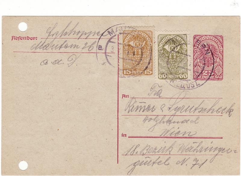 """Postkartenserie """"Neuer Wappenadler"""", Inschrift """"Deutschösterreich"""" Img28"""