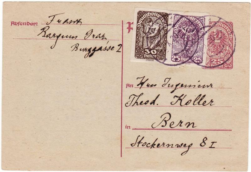 """Postkartenserie """"Neuer Wappenadler"""", Inschrift """"Deutschösterreich"""" Img36"""
