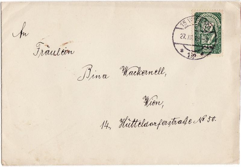 Republik Deutsch-Österreich  -  Bedarfspost Dez. 1918 - Dez. 1921 Img_0010