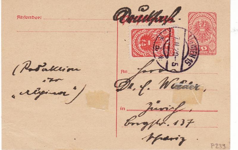 """Postkartenserie """"Neuer Wappenadler"""", Inschrift """"Deutschösterreich"""" Img_0011"""