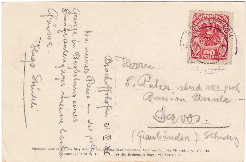 Republik Deutsch-Österreich  -  Bedarfspost Dez. 1918 - Dez. 1921 Img_0019