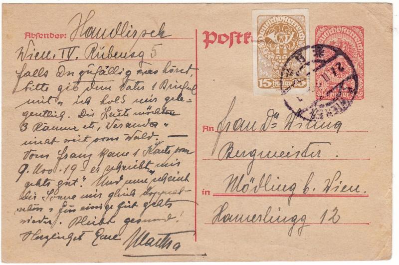 """Postkartenserie """"Neuer Wappenadler"""", Inschrift """"Deutschösterreich"""" Img_0021"""