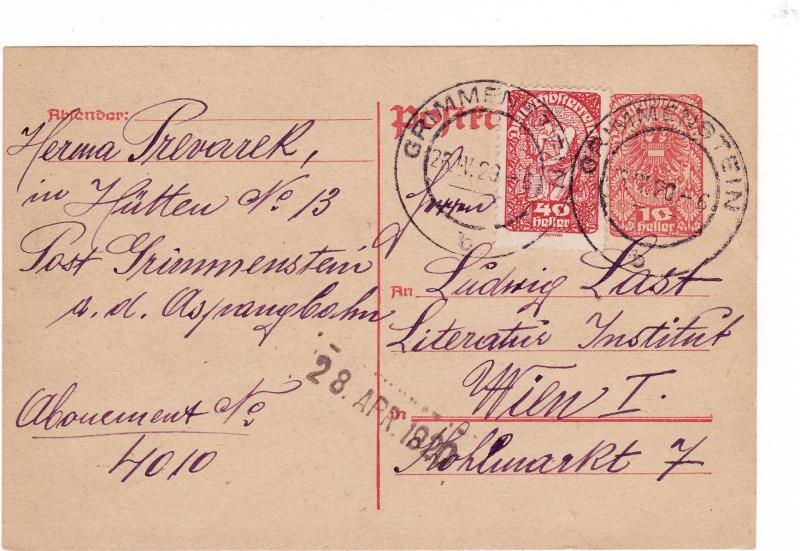 """Postkartenserie """"Neuer Wappenadler"""", Inschrift """"Deutschösterreich"""" Img_0022"""