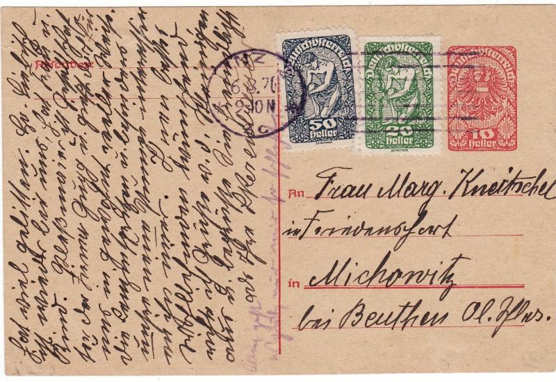 """Postkartenserie """"Neuer Wappenadler"""", Inschrift """"Deutschösterreich"""" Img_0023"""