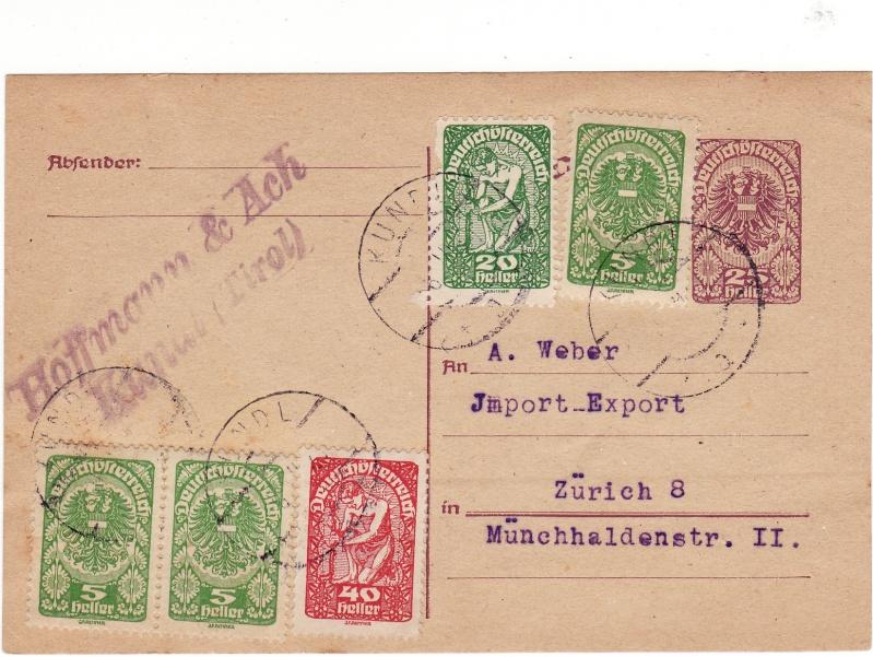"""Postkartenserie """"Neuer Wappenadler"""", Inschrift """"Deutschösterreich"""" Img_0025"""