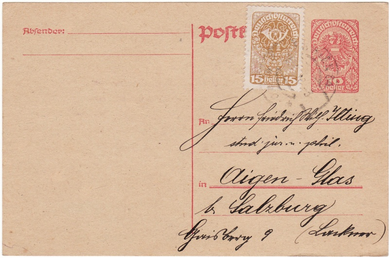 """Postkartenserie """"Neuer Wappenadler"""", Inschrift """"Deutschösterreich"""" Img_0036"""