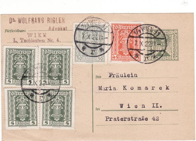 """Postkartenserie """"Quadratischer Wertstempel - Wertziffer im Dreieck"""" 1922-24 Img_0062"""