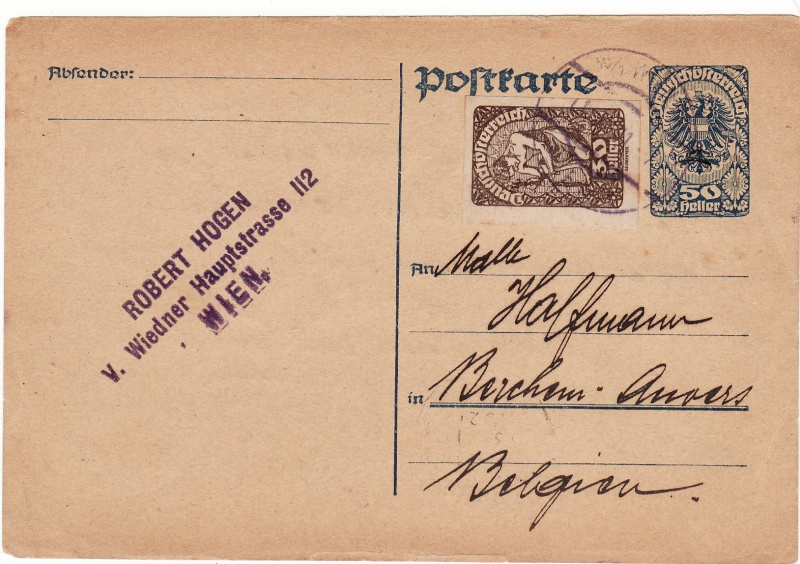 """Postkartenserie """"Neuer Wappenadler"""", Inschrift """"Deutschösterreich"""" Img_0070"""
