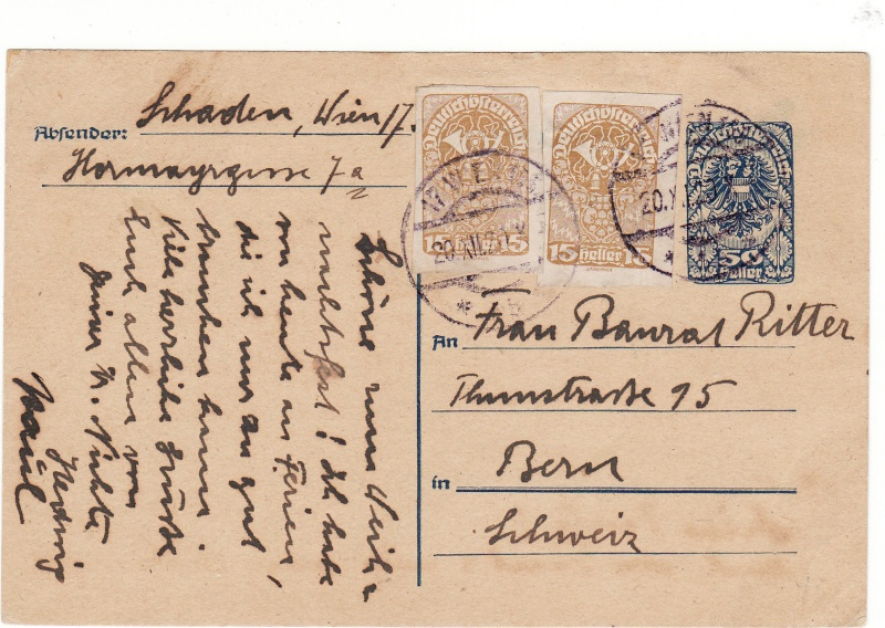 """Postkartenserie """"Neuer Wappenadler"""", Inschrift """"Deutschösterreich"""" Img_0075"""