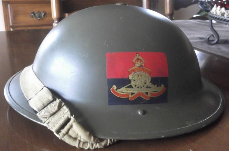 Casque MKII du Royal artillerie 1942 ( Canada ) Dscf6067