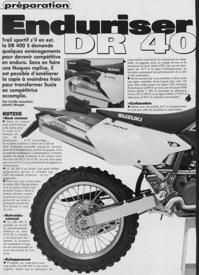 Suzuki 400 DRZ-S kevin134 modifs vers la E - Page 2 Dr400a10