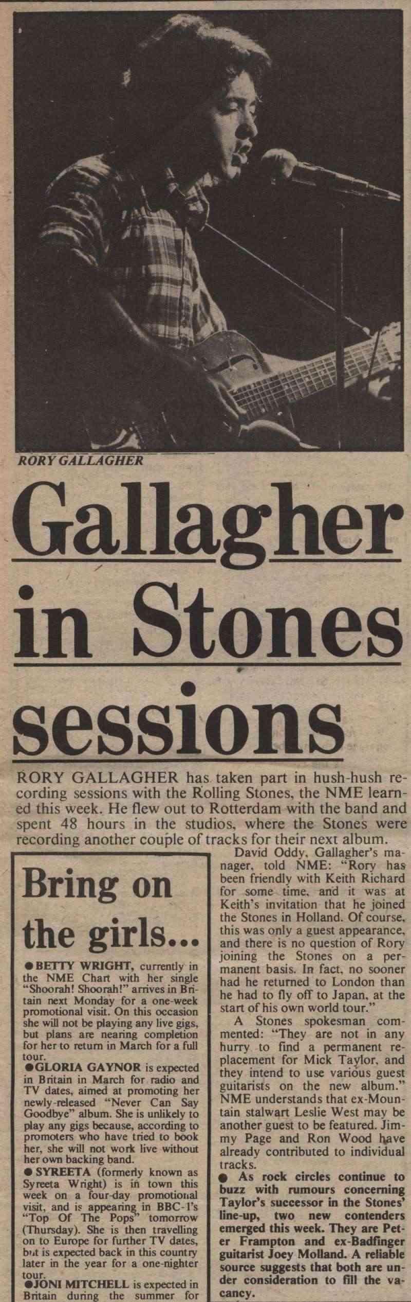 Rory chez les Stones? Rory dans Deep Purple? dans Cream? - Page 3 Nme19711