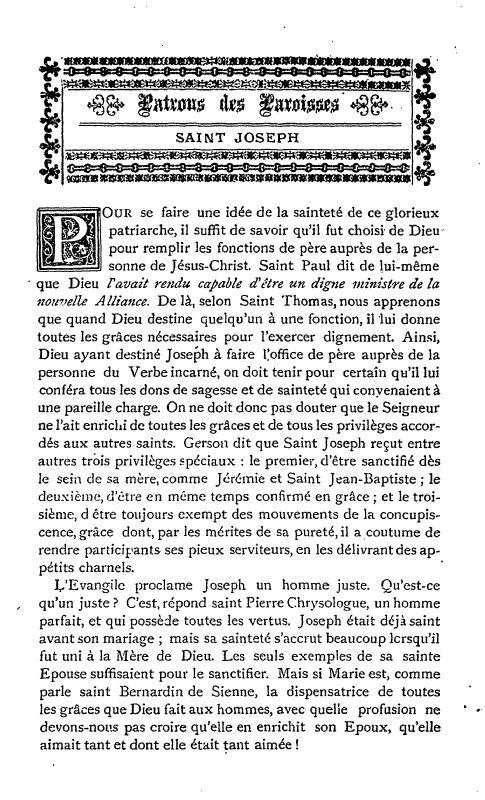 Un texte sur Saint Joseph ;  par S. Alphonse de Liguori. 1_defa10