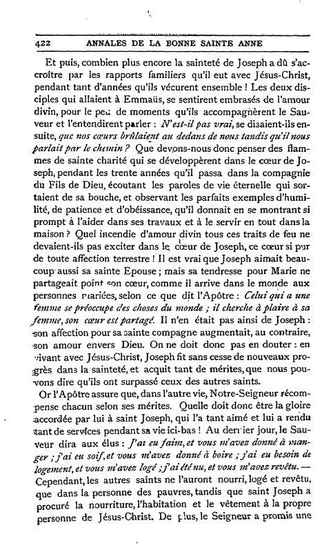 Un texte sur Saint Joseph ;  par S. Alphonse de Liguori. 2_defa10