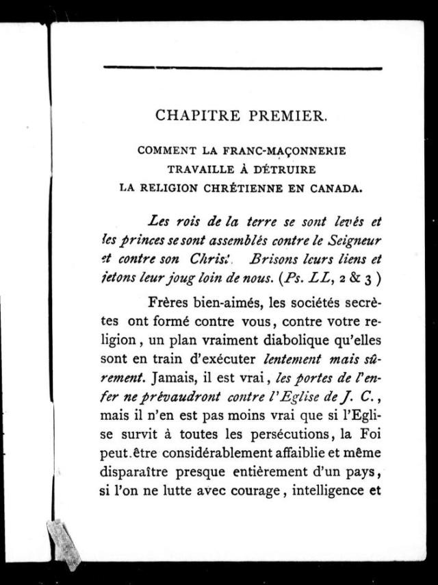 1898 - « COMMENT LA FRANC-MAÇONNERIE TRAVAILLE À DÉTRUIRE LA RELIGION CHRÉTIENNE EN CANADA. » 3_cihm10
