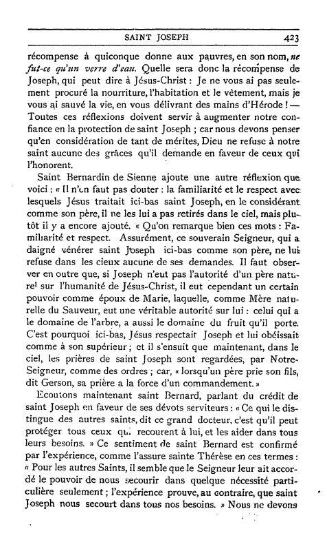 Un texte sur Saint Joseph ;  par S. Alphonse de Liguori. 3_defa10