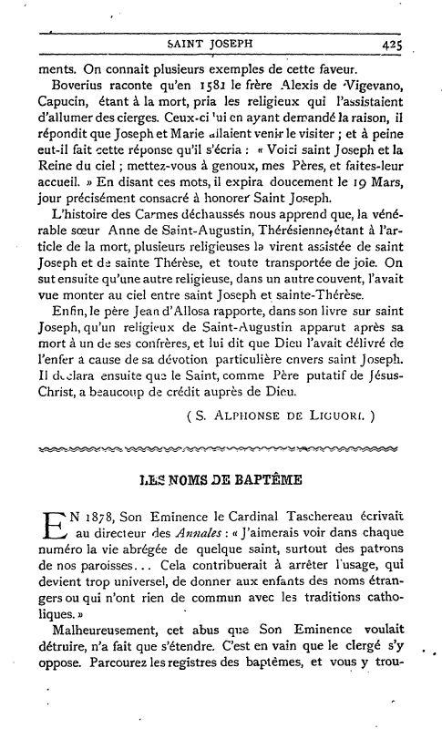 Un texte sur Saint Joseph ;  par S. Alphonse de Liguori. 5_defa10