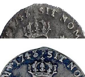 1/20 ème d' Ecu au Bandeau, Louis XV 1743 O Vingti10