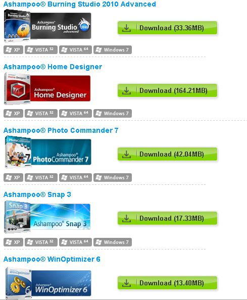 Ashampoo® promotion de logiciels gratuit ! 12-01-10