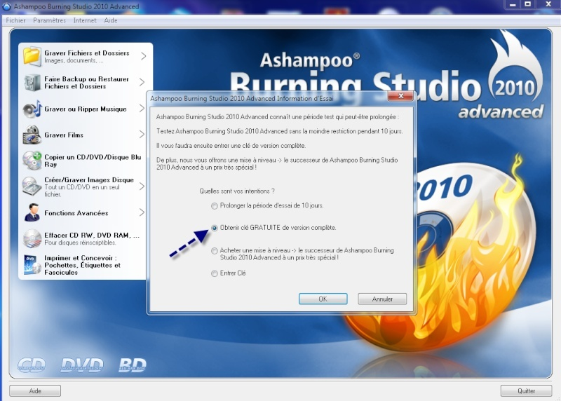 Ashampoo® promotion de logiciels gratuit ! 12-01-11