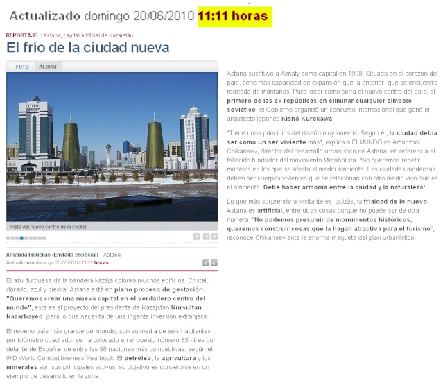 ASTANA la capital de Kazajistán 6dr7yr10
