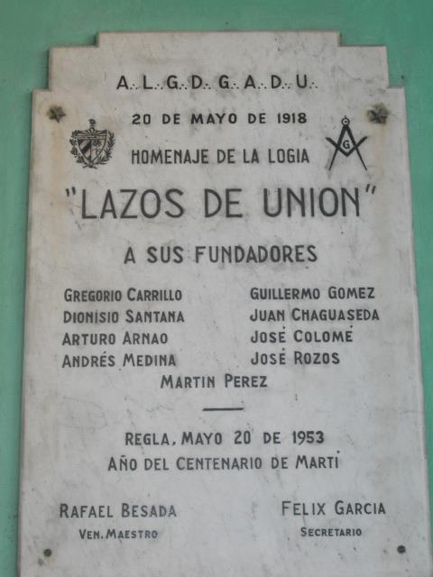 LAS LOGIAS EN CUBA Laz10
