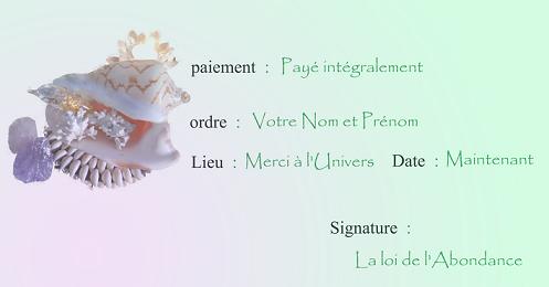 Chèque d'Abondance Cheque10
