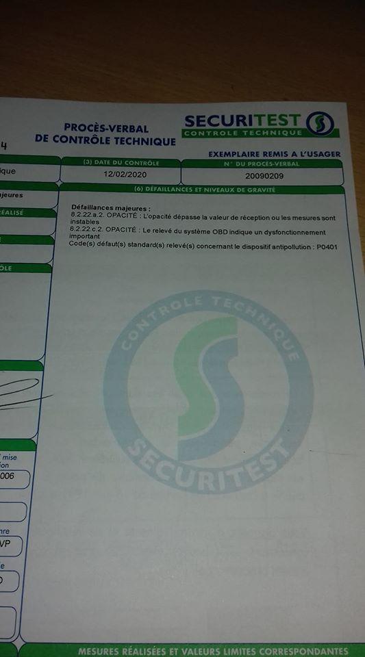 [ Bmw E83 X3 2.0d M47N2 an 2006 ] CT refusé, défaut P0401 (Résolu ) 20200110