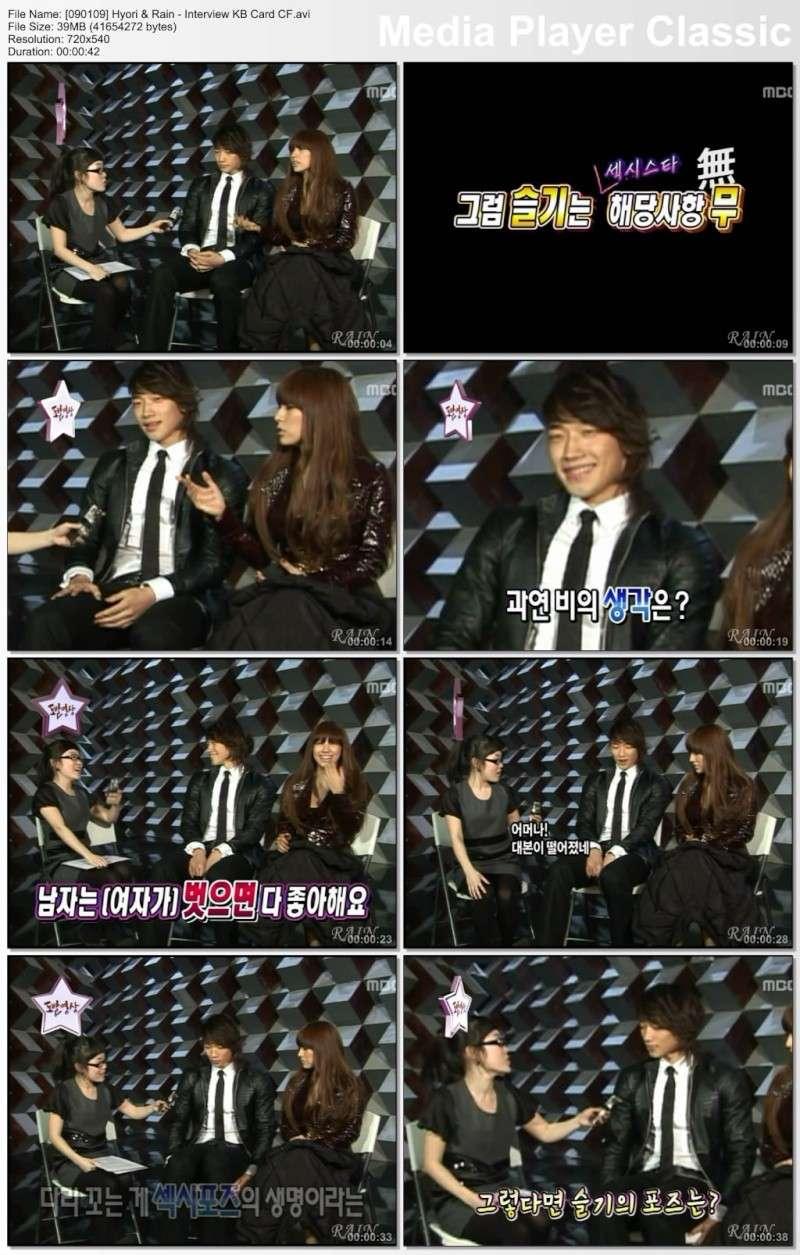 [090109] Hyori & Rain - Interview KB Card CF [39M/avi] 09010910