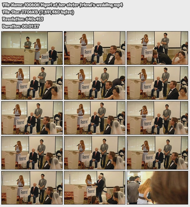 [100606] Hyori at her sister friend's wedding [7M/mp4] 10060610