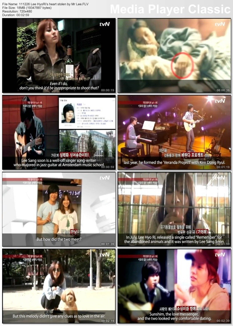 [Engsub][111226] Lee HyoRi's heart stolen by Mr Lee 11122610
