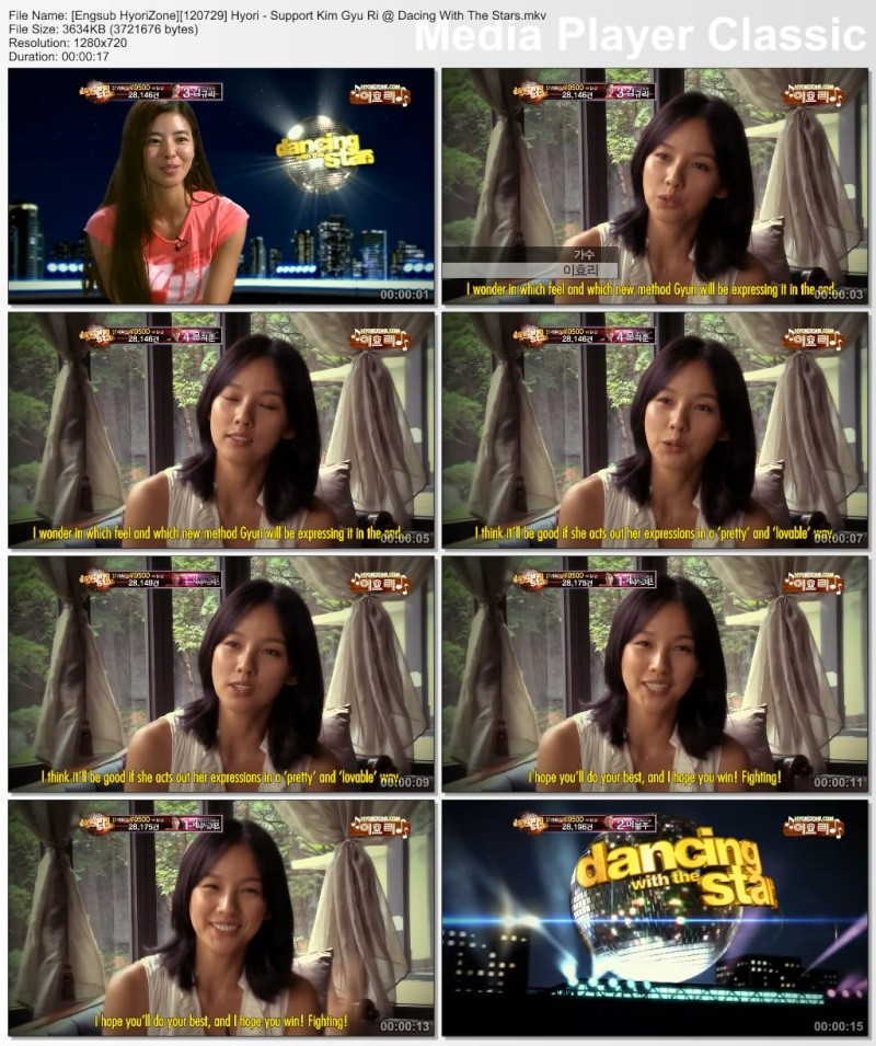 [Engsub HyoriZone][120729] Hyori - Support Kim Gyu Ri @ Dacing With The Stars Engsub15