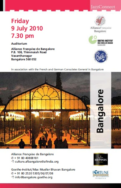 JAZZ CONCERT, FRIDAY 9TH JULY, 7.30PM, FREE Affich10