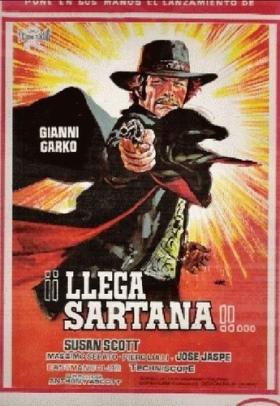 Une trainée de poudre... les pistoleros arrivent ! Una nuvola di polvere... un grido di morte... arriva Sartana de Giuliano Carnimeo, 1971 Une_tr10