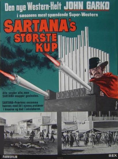 Une trainée de poudre... les pistoleros arrivent ! Una nuvola di polvere... un grido di morte... arriva Sartana de Giuliano Carnimeo, 1971 Une_tr11