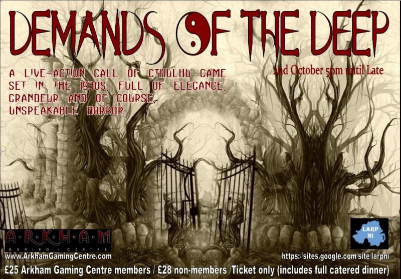 [ARKHAM EVENT] Demands Of The Deep (Sat 2nd October 5pm-late) Demand11
