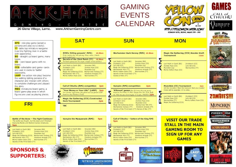 [CON] Arkham Gaming Centre at 'YELLOWCON' (27th to 29th of August 2010) Yellow10