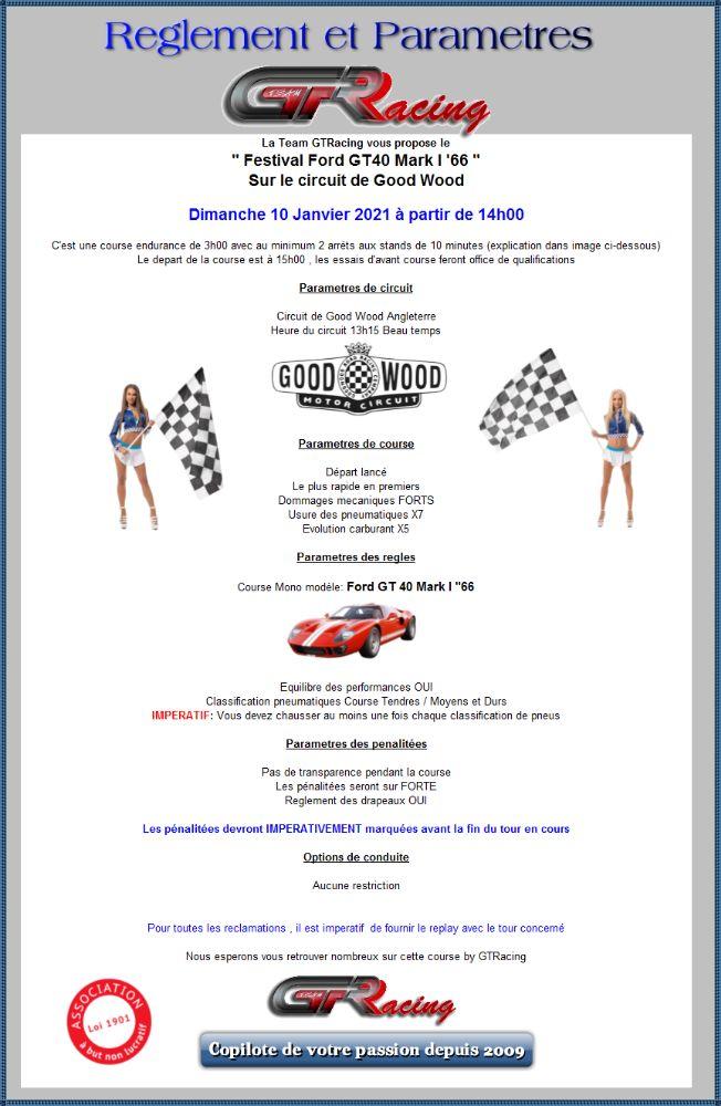 """Good Wood """"Festival GT40 Mark I """"66 """" Dimanche 10 Janvier à partir de 14h00 0yeim910"""
