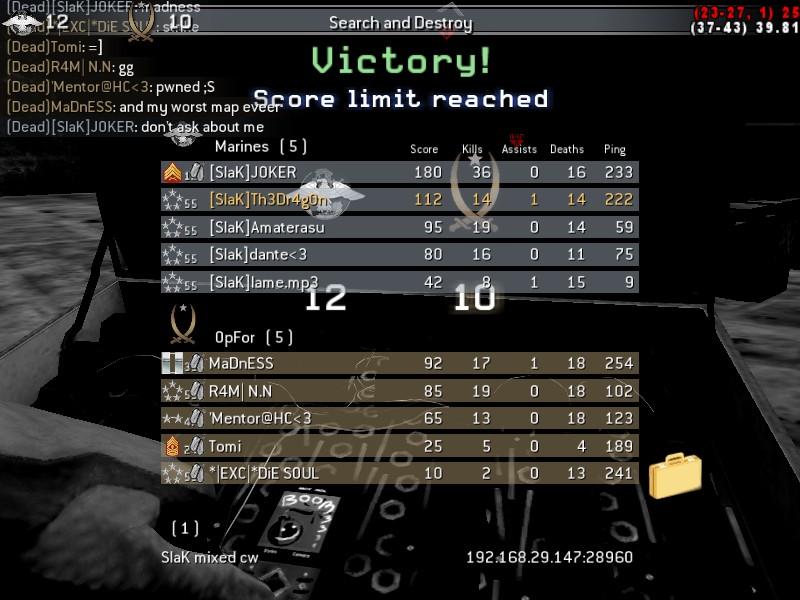 [SlaK] vs clans mix 1/9 - 2010 Shot0018