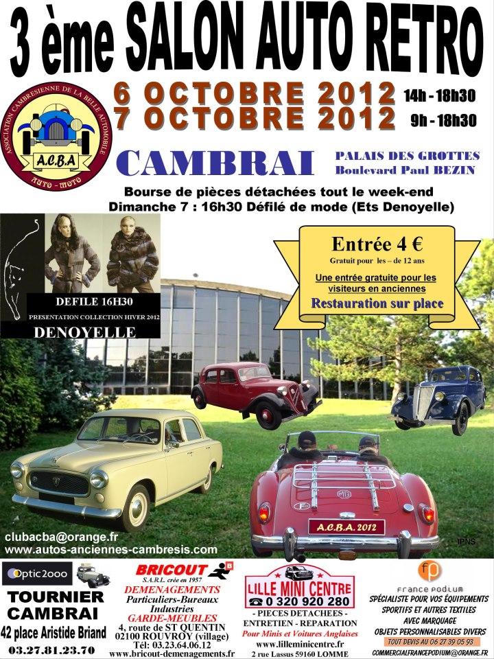 le 6 et 7 octobre, 3eme auto retro a cambrai 52719510