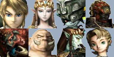 Face Set Zelda Facese12