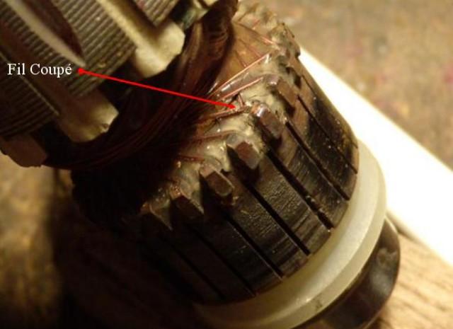 Réparation induit de meuleuse Induit11