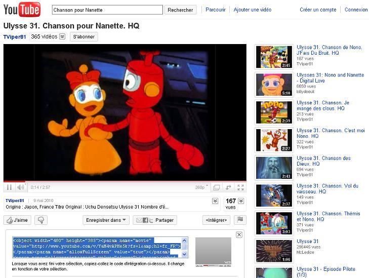 Comment mettre une vidéo (youtube, dailymotion) sur le forum  Yt210