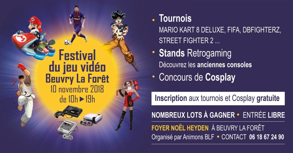 Festival jeux video (NORD 59) GAMES OF THE NORTH le 21 avril à beuvry la foret - 800 m2 Festiv10
