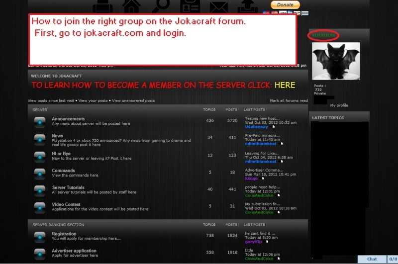 How to change your group on the forum!  Guide110